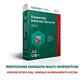 Kaspersky Lab Internet Security 2017, 1 user, 1 anno, Italiano - Kaspersky - amazon.it