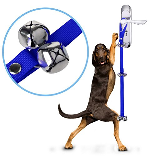 Dog Potty Training Door Bells, Sicai Dog DoorBell for House Training Your Puppy, Easy for Toilet Training, Blue