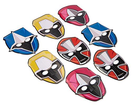 Power Ranger 8 Stück Papiermasken die verschiedenen Charaktere aus Power Rangers