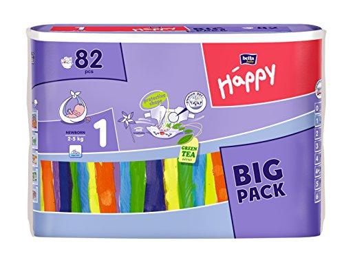 Bella Baby Happy Windeln Größe 1 Newborn 2-5 kg Big Pack, 1er Pack (1 x 82 Stück)