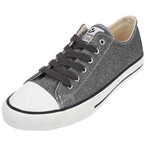 W Sapatos E17 Gris Lurex Antracite Cesta De qqgRwaB