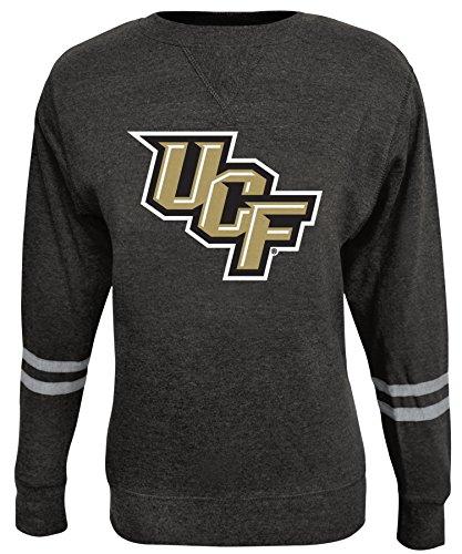 Alta Gracia NCAA Damen Crew Sweatshirt, Damen, Rosaura, schwarz, Large Black Collegiate Crew Sweatshirt