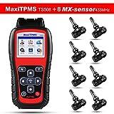 Autel MaxiTPMS TS508 TPMS Herramien,Programe sensores MX Conduzca TPMS Reaprendizaje 8pcs 433MHZ MX-Sensor Sensores del vástago de goma