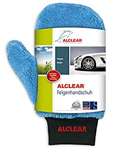 Alclear 950013b Gant de lavage microfiches Ultra ALCLEAR® pour jantes et surfaces peintes 26 x 12 cm (Bleu)