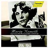 Weber : Maria Nemeth Sings Arias By Verdi, Mozart, Weber and Goldmark