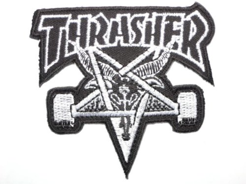 THRASHER Skate Goat Pentagram Iron On Sew On Skater Punk Embroidered Patch by patch.ss