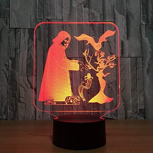 Night Light 3d Fashion Halloween Led Usb Color Changeable Mood Lampe Bedroom Tisch Lampe Creative Decor Kids Freunde Familie Geschenke Halloween Fashion