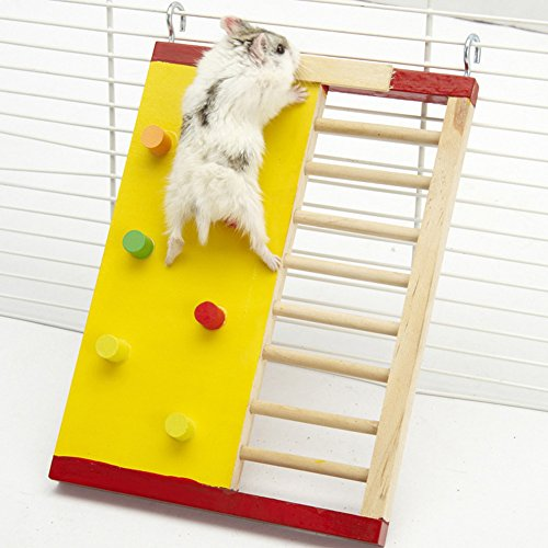 JTENGYAO Wooden Colorful Funny Climbing Ladder for small animal Rat Hamsters Recreation Equipment