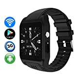 TLgf Smart Watch Heart Rate Monitor Bluetooth Headset Call WiFi Zwei-Wege-Positionierung, HD-Kamera, Support SIM Card, Android-System,Black