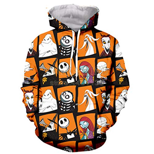 Halloween Style Jack Alptraum vor Weihnachten Hoodies Männer Frauen 3D gedruckt Hoodie Streetwear 02 XL