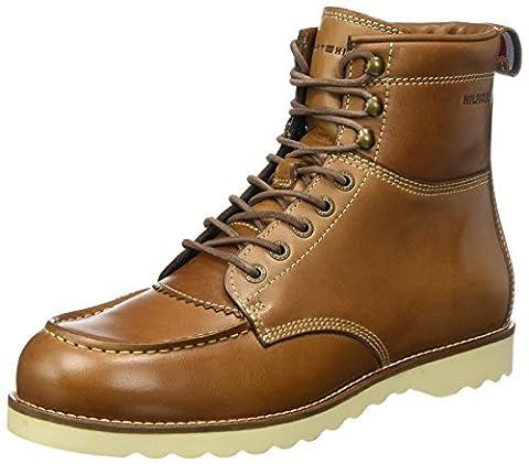 Tommy Hilfiger Herren R2285UDY 1A Biker Boots, Braun (Winter Cognac), 42 EU