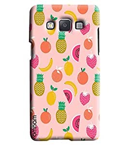 Omnam Pink Fruit Pattern Printed Designer Back Cover Case For Samsung Galaxy A5