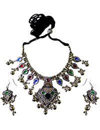 GiftPiper Oxidized Metal Jewellery Set-Multicolor Beads Pendant 4