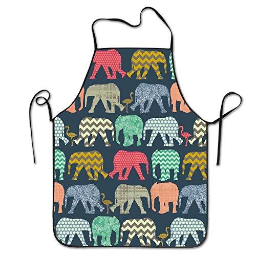 Wunderschöne Ornamente für Männer und Frauen, Elefant, Flamingo, Kunstdruck, Koch- und Cook-Küche, wasserfest, perfekt zum Kochen, Backen, Basteln, Grillen
