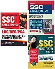 SSC CHSL (10+2) Guide, Solved Paper, 15 Practice Sets 2020 (Set of 3 Books)