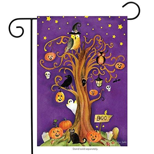 Halloween Baum Garten Flagge gruselige Geister Kürbisse Eule 31,8x 45,7cm Briarwood Lane