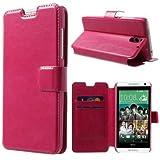 Handytasche Business Case Cover HTC Desire 610 Etui Flip deep-pink Handy-Hülle