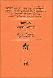 Annales bergsoniennes : Tome 2, Bergson, Deleuze, la phénoménologie