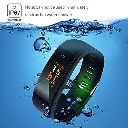 Pulsera Inteligente, rastreador de Actividad Monitor de Ritmo cardíaco a Prueba de Agua IP67 Deporte Mujer Hombre Niño Presión Arterial Cronómetro Contador de frecuencia