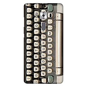 Mobo Monkey Designer Printed Back Case Cover for Asus Zenfone 3 Deluxe ZS570KL (5.7 Inches) (Retro :: Object :: Typewriter :: Vintage :: Keyboard)
