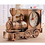 A menudo Train función de reloj de pared antiguo Classic reloj despertador de cuarzo reloj de...