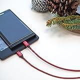 Micro USB Kabel Nylon 1m / 3.3ft [2-Pack] - Rampow® 2.4A [ Micro USB Schnellladekabel ] geflochtenes Samsung Ladekabel / Ladekabel Samsung - Lebenslange Garantie - High Speed Sync und Ladekabel für Android Smartphones, Samsung Galaxy, HTC, Huawei, Sony, Nexus, Nokia, Kindle und mehr - Rot und Schwarz