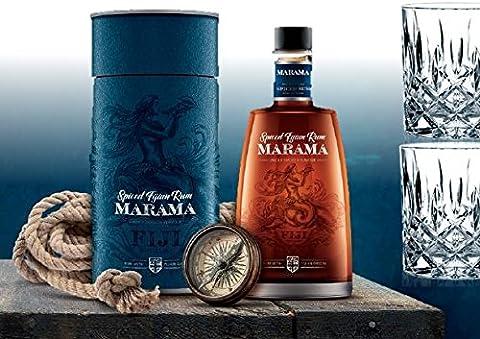 100% Rum Rarität| direkt von den Fidschi-Inseln Spiced Rum| Sonderedition, limitiert im Geschenkset mit 2 geschliffenen Rum-Gläsern| Geburtstags-geschenk für Männer & Kenner| Fernweh Weltreise Fiji