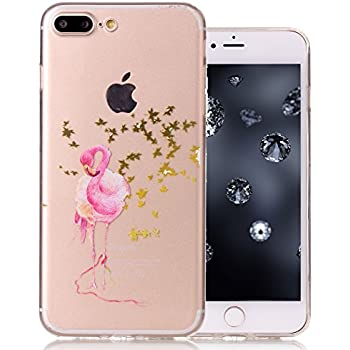 coque iphone 8 plus flamand rose pallette