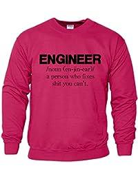 Engineer Gift for Dad Attention Lumière Voiture Sweatshirt