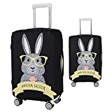 #8: tecmac Luggage Suitcase Cover Lightweight Elastic Travel Trolley Case Thickening Dust Cover, Cute Rabbit Animal Print, 18-22 inch (S)