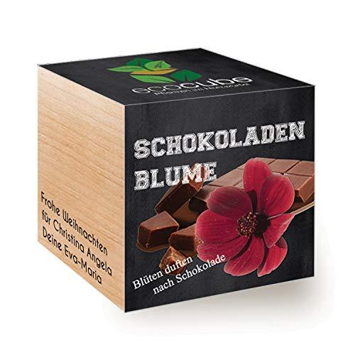 Geschenke.de EcoCube Schokoladenblume mit Gravur