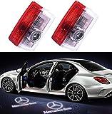 2PCS Car LED Projecteur Liuer Ghost Shadow Logo Lampe 3D Voiture Lumière D'entrée D'éclairage Bienvenue laser Projecteur pour Class A Class B Class C Class E W205 W176 W212 W166 W246 GLC GLE GLS GLA...