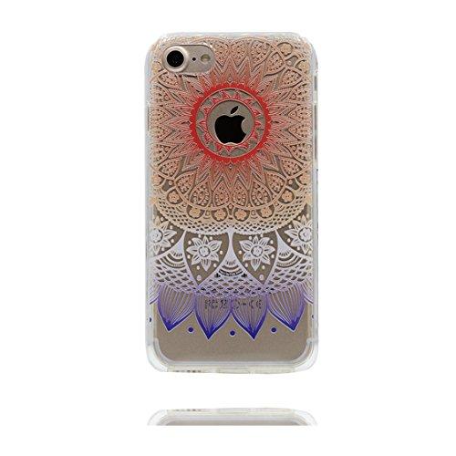 iPhone 7 Custodia, Visualizza chiaro Ultra sottil Silicone Cover Shell Semplice Progettato per iPhone 7 Copertura (4.7 pollici), iPhone 7 Case - Fenicottero color 1
