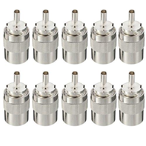 DyNamic 10Pcs Uhf Pl259 Male Connector Plug Solder Rg8 Rg213 Lmr400 7D-Fb-Kabel Lot Pl 259