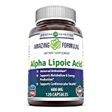 Amazing Nutrition Alpha Lipoic Acid 600 Mg 120 Capsules - High Potency