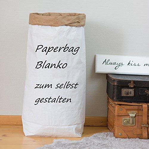 Sacco di carta rotondo colore Marrone//Bianco Abc