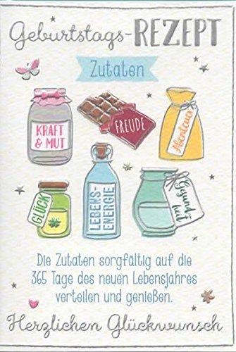 Geburtstagskarte Geburtstags-Rezept Zutaten DEP 025