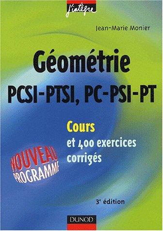 Cours de mathématiques - Géométrie PCSI-PC, PTS...