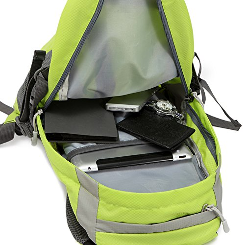 Outdoor peak Unisex Nylon wasserabweisend Ultrasport Wanderrucksack Radfahrrad Trekkingrucksack Reisetasche Laptop-Tasche Schultasche Bergsteigen Arbeitestasche . Armee grün