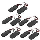 10 PCS EIN / AUS-Schalter 2 x 3V CR2032 Knopfzelle Batteriehalter für LED