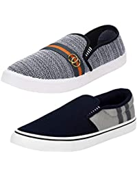 Earton Mens Stylish & Trendy Multicolor Combo Loafer & Moccains Shoes (COMBO-1032+771-6_$p)