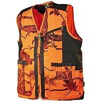 Treeland - Chaleco de caza camuflaje naranja Forest T254, color naranja, tamaño medium