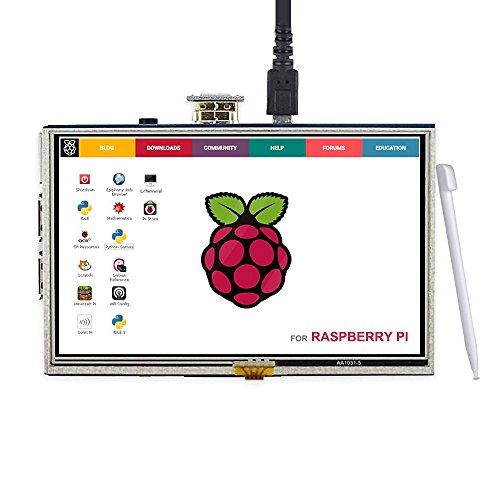 Elecrow 5 Inch Touch Screen HDMI Monitor HD 800x480 TFT LCD Display for Raspberry Pi 2B B+ Raspberry Pi 3B