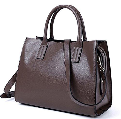 XinMaoYuan Autunno e Inverno Vacchetta Borsetta tracolla messenger bag colore solido Sezione trasversale Tuote Bag sacca zipper,Nero Colore caramello