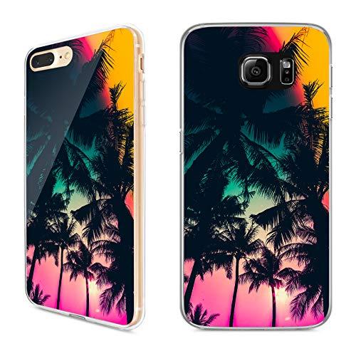 Premium Handyhülle 'Tropical' für Samsung Galaxy - Silikon   Tropen   Palmen   Urlaub   Strand   Ananas   Früchte   Flamingo, Handy:Samsung Galaxy J5 (2015), Hüllendesign:Design 3   Silikon Klar (Urlaub Flamingo)