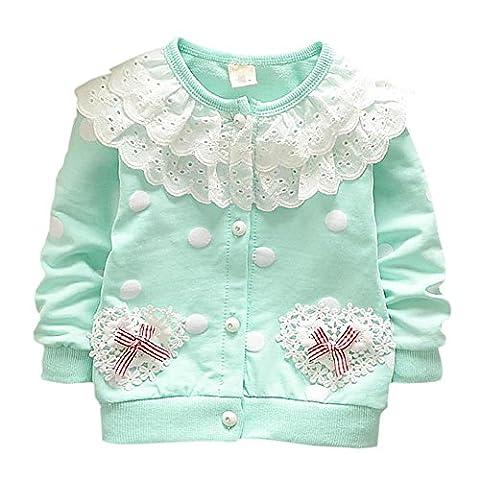 ESHOO Kleine Prinzessin Cardigan Baby Mädchen Langarm Blume Outwear Jacke