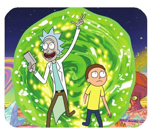 Rick and Morty Customized Rectangle Mousepad by orangecraft