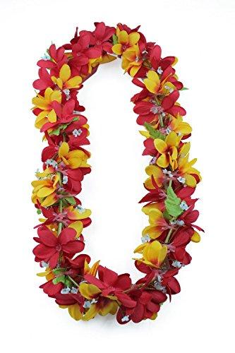 5d2b2cad8b3c Fiesta de Hawaii Luau Tela Artificial Plumeria Lei Amarillo rojo