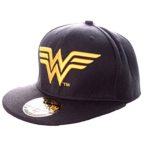 Wonder Woman Snapback Cap - Classic Logo Schwarz
