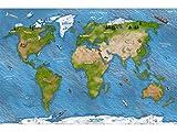 Stikkipix Weltkarte Teppich | SM15 | Hochwertige Spiel-Matte für Das Kinder-Zimmer | ideales Zubehör zu Spiel-Figuren von Schleich, Playmobil, Papo, Bullyland & Co | 150 x 100 cm